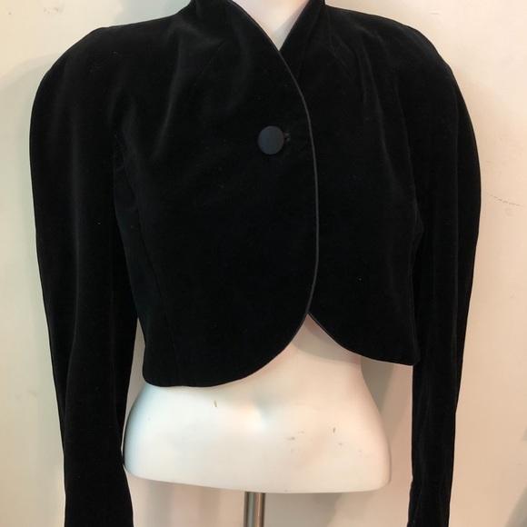 Black Velvet ESCADA Bolero Crop Jacket 38